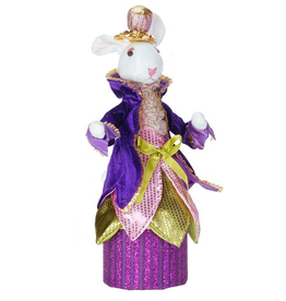 Mark Roberts Fairies Bunnies Bunny Rabbit Candy Box 14 inch w Purple