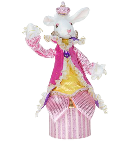 Mark Roberts Fairies Bunnies Bunny Rabbit Candy Box 14 inch w Pink