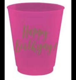 Slant Happy Birthyay Birthday Plastic Flex Shot Cups 4oz 8pk F172478 Slant