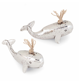 Mud Pie Whale Salt and Pepper Set 4501006 Mud Pie Gifts