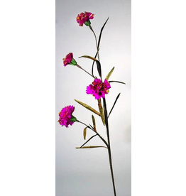 Katherine's Collection Fantasy Dianthus Floral Stem With Virbrant Fuchsia Flowers