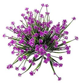 Digs Mini Artificial Flowers Bundle UV Resistant Fushia 9.5x13