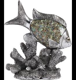 Mark Roberts Home Decor Sea Fish Over Coral Art Decor 8.5in