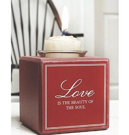 K&K Interiors Love Is The Beauty Of The Sould Cube Votive Holder