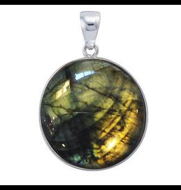 Charles Albert Jewelry Fine Sterling Silver Pendant w Labradorite
