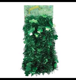 Kurt Adler Shamrock Green Tinsel Garland 12ft 5-Ply Irish St. Patricks Day by  Kurt Adler