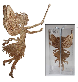 Katherine's Collection Fairy Decor Gold Fairy w Wand Silhouette 2pk Katherines Collection