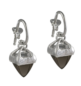 Waxing Poetic® Jewelry Gravitas Earrings Sterling Silver-Smoky Quartz