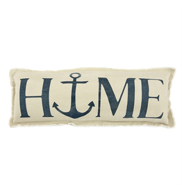 Mud Pie Washed Canvas Pillow 12x33 Home Anchor