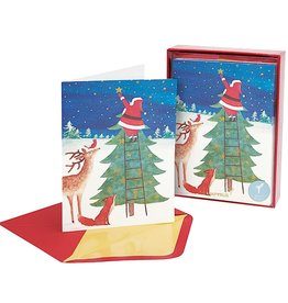 PAPYRUS® Boxed Christmas Cards 14 CT Santa Reaching For Star