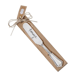 Mud Pie Fleur De Lis Spreader w Stamped Sentiment- Fromage