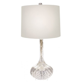Mark Roberts Stylish Home Decor Modern Silver Droplet Lamp 27.5H
