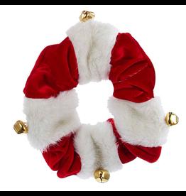 Kurt Adler Christmas Dog Collar Red White With Bells LG Large