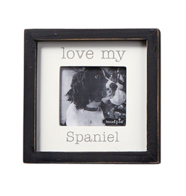 Mud Pie Love My Spaniel Dog Breed Small Photo Plaque Pet Gift 5x5in