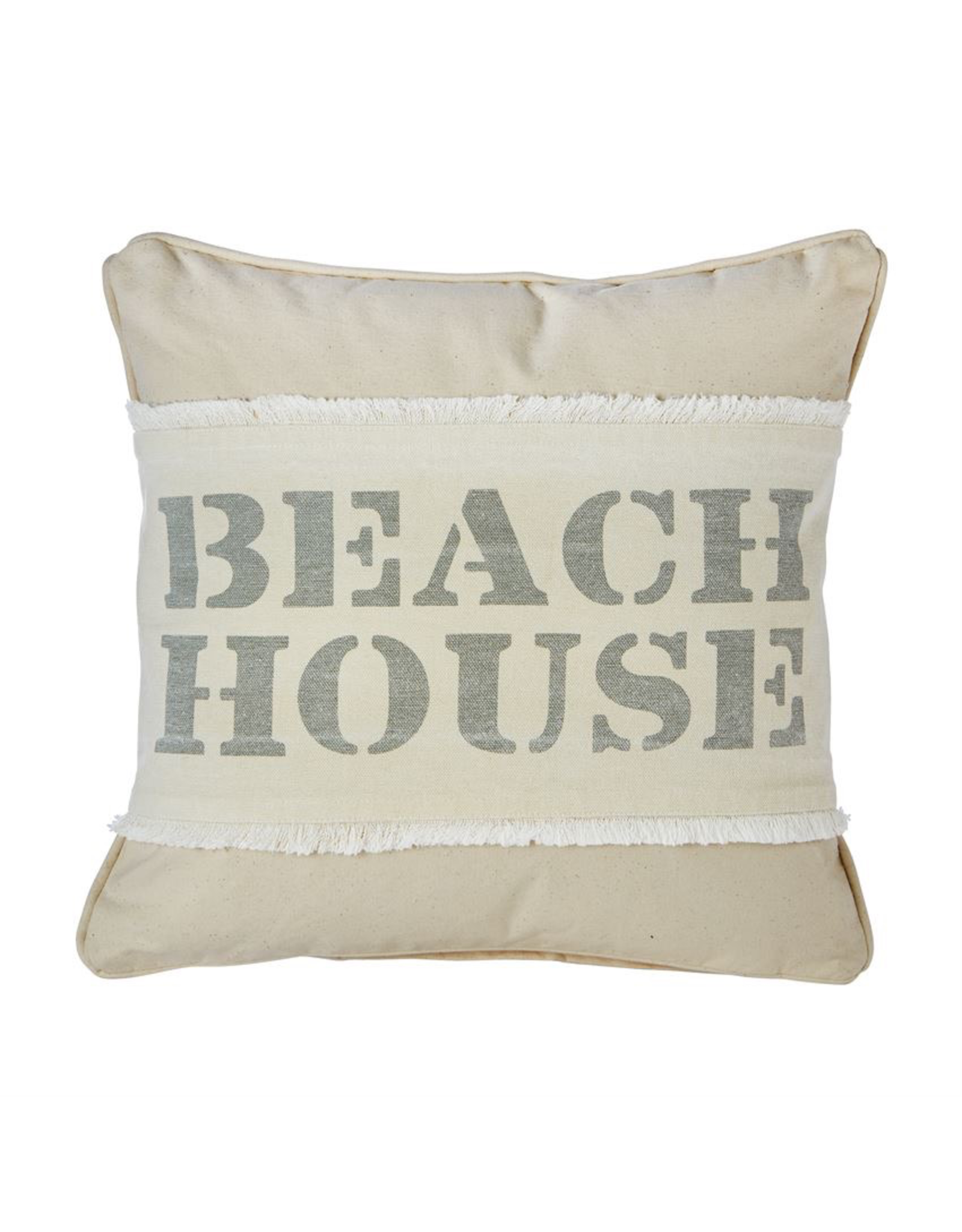 Mud Pie Beach House Washed Canvas Pillow Wrap 7x31 inch