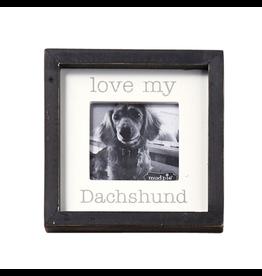 Mud Pie Love My Daschund Dog Breed Small Photo Plaque Pet Gift 5x5in