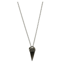 Waxing Poetic® Jewelry Gravitas Necklace Sterling Silver-Smoky Quartz