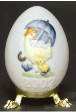 Goebel 2002 25th Edition Annual Egg Chick and Duck w Umbrella
