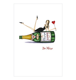 Caspari Valentine's Day Card Champagne and Be Mine