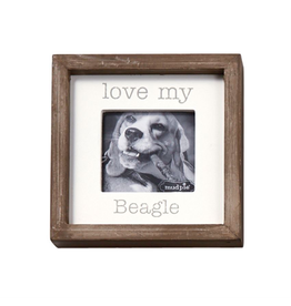 Mud Pie Love My Beagle Dog Breed Small Photo Plaque Pet Gift 5x5in
