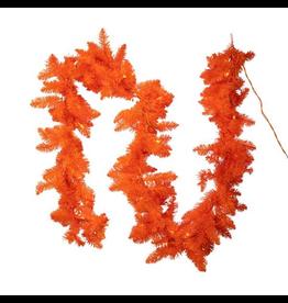 Kurt Adler Halloween Garlands Pre-Lit Orange Garland 9 Foot