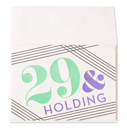 PAPYRUS® Birthday Card 29 And Holding