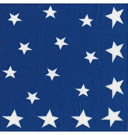 Caspari Patriotic July 4th Paper Cocktail Napkins 20ct Stars And Stripes