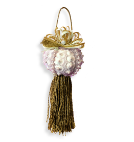 Treasures From The Sea Sea Urchin Shell Tassel Ornament