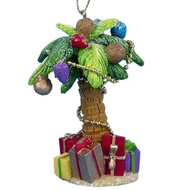 Kurt Adler Palm Tree Ornament W Presents 4.25 Inch -B Light Green Leaves