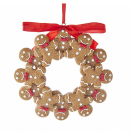 Kurt Adler Gingerbread Boy Wreath Ornament 4.75 Inch