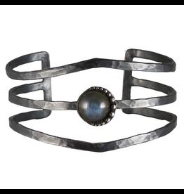 Waxing Poetic® Jewelry Nightaire Cuff Bracelet-Sterling Silver-Labradorite