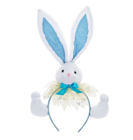 Midwest-CBK Easter Bunny Ears Plush Bunny Headband 7702425-B Blue Ears
