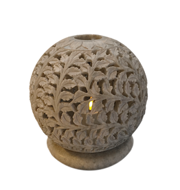 Et Al Designs Carved Sphere Tea Light Holder LG 5.5Dia