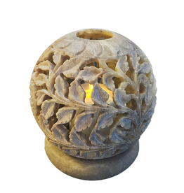 Et Al Designs Carved Sphere Tea Light Holder SM 3.5Dia