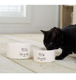 Mud Pie Meow Cat Bowl Nested Set of 2