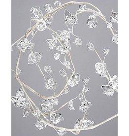 Kurt Adler Clear Acrylic Crystal Ice Garland 6 Foot Strand