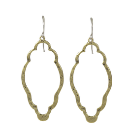 Waxing Poetic® Jewelry Open Up Earrings Clover Brass