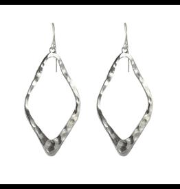 Waxing Poetic® Jewelry Open Up Earrings Diamond Sterling Silver