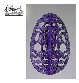 Katherine's Collection Easter Egg Ornament Glittered Laser Cut Purple
