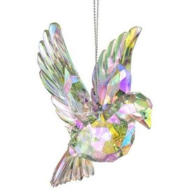 Kurt Adler Iridescent Dove Acrylic Ornament Clear