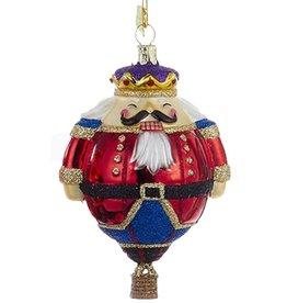 Kurt Adler Glass Hot Air Balloon Nutcracker Ornament 4.8 Inch Nobel Gems