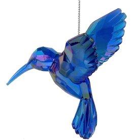 Kurt Adler Iridescent Hummingbird Acrylic Ornament Blue