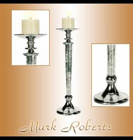 Mark Roberts Stylish Home Decor Pillar Pedestal Candle Holder 18H