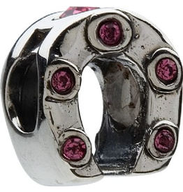 Chamilia Horseshoe Sterling Silver w Rose Crytals JB-30B