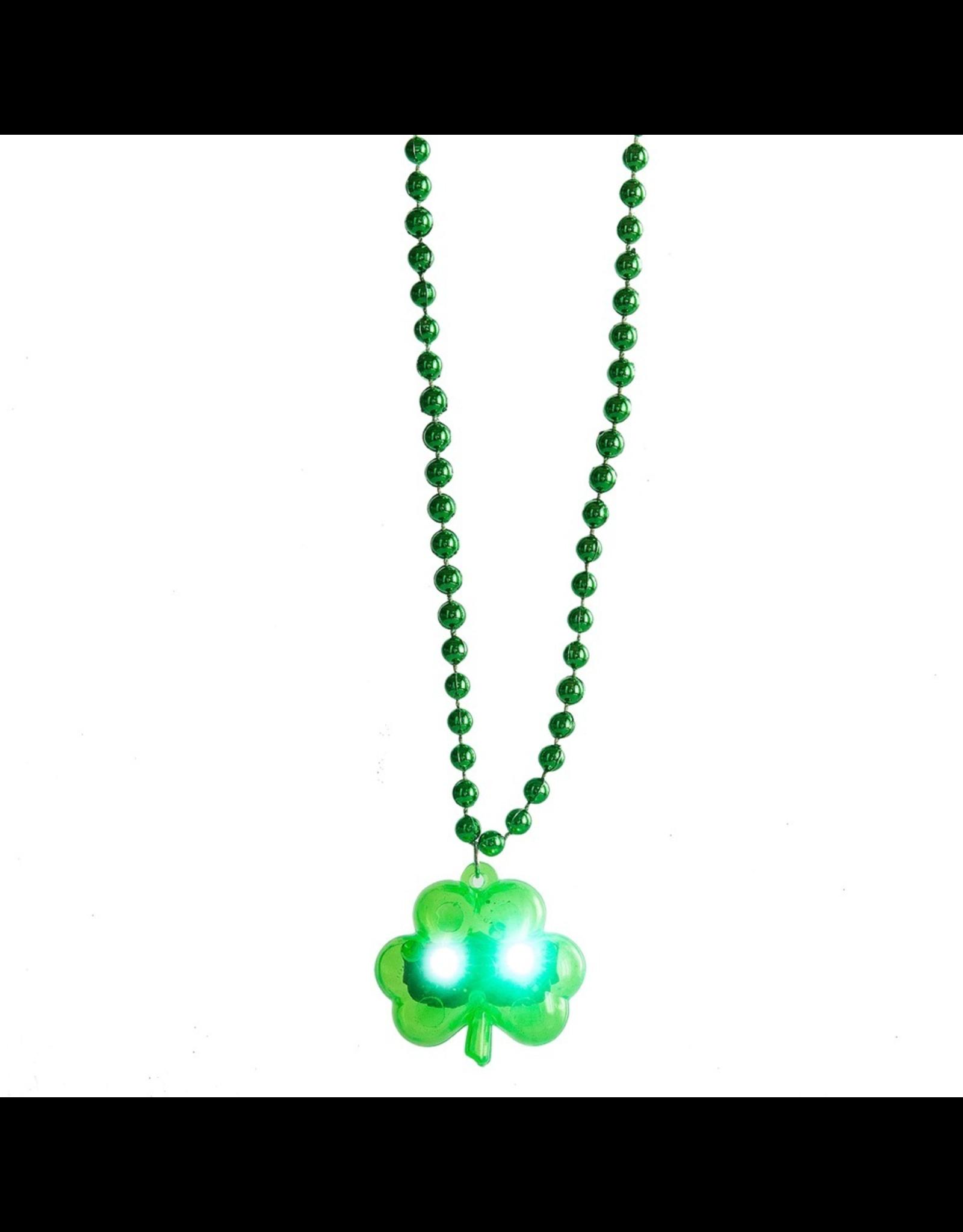 Midwest-CBK Irish-St Patricks Day LED Flashing Shamrock Necklace