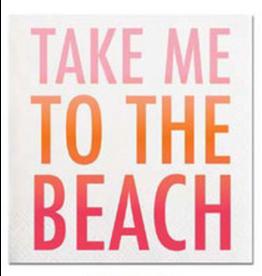 Slant Cocktail Beverage Napkins 20ct Take Me To The Beach