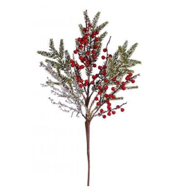 Winward Christmas Flowers Floral Iced Pine Berry Spray