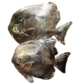 Mark Roberts Stylish Home Decor Silvered Sea Fish Set of 2