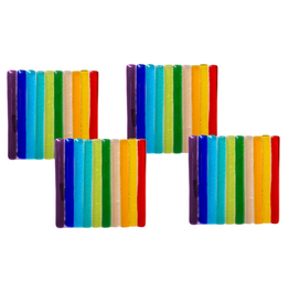 Midwest-CBK Rainbow Pride Glass Coasters Set of 4