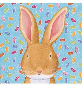 Caspari Easter Paper Cocktail Napkins  20pk Wabbit Bunny Rabbit Blue